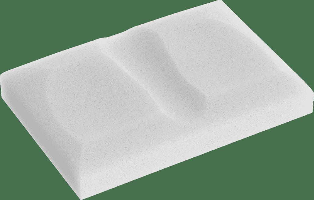 Kissen für Seitenschläfer (Ansicht Schaumstoff)