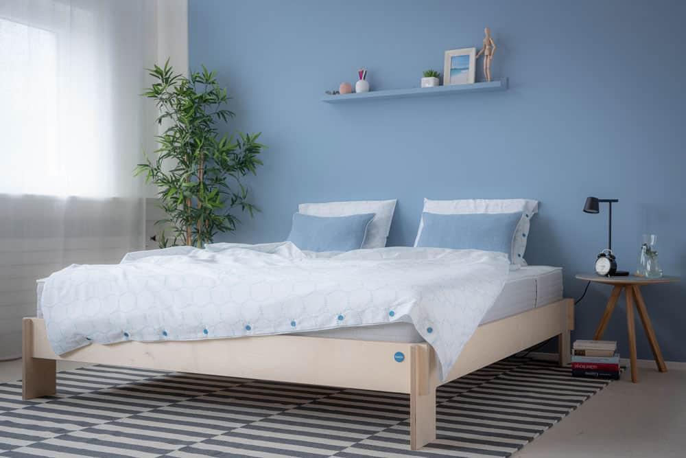 Ton lit happy - cadre de lit avec sommier à lattes