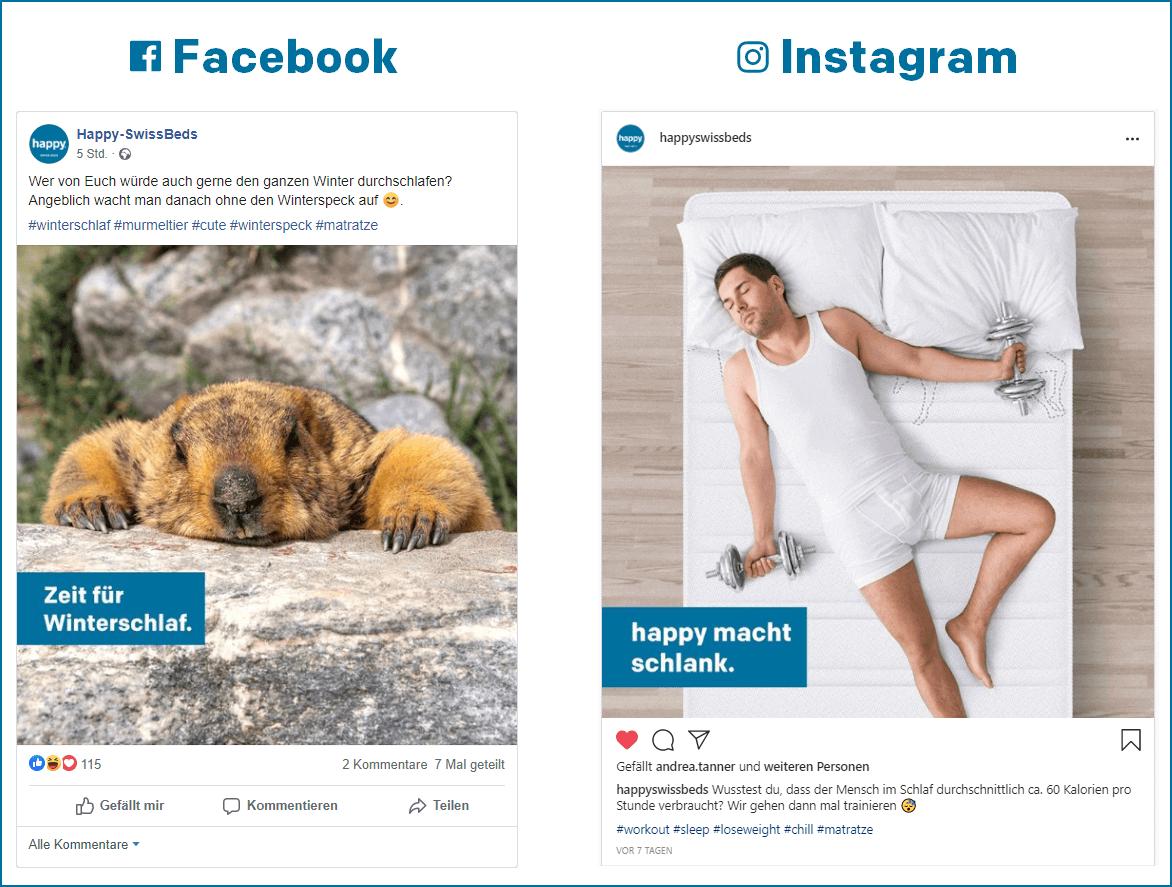 happy Matratzen Social Media