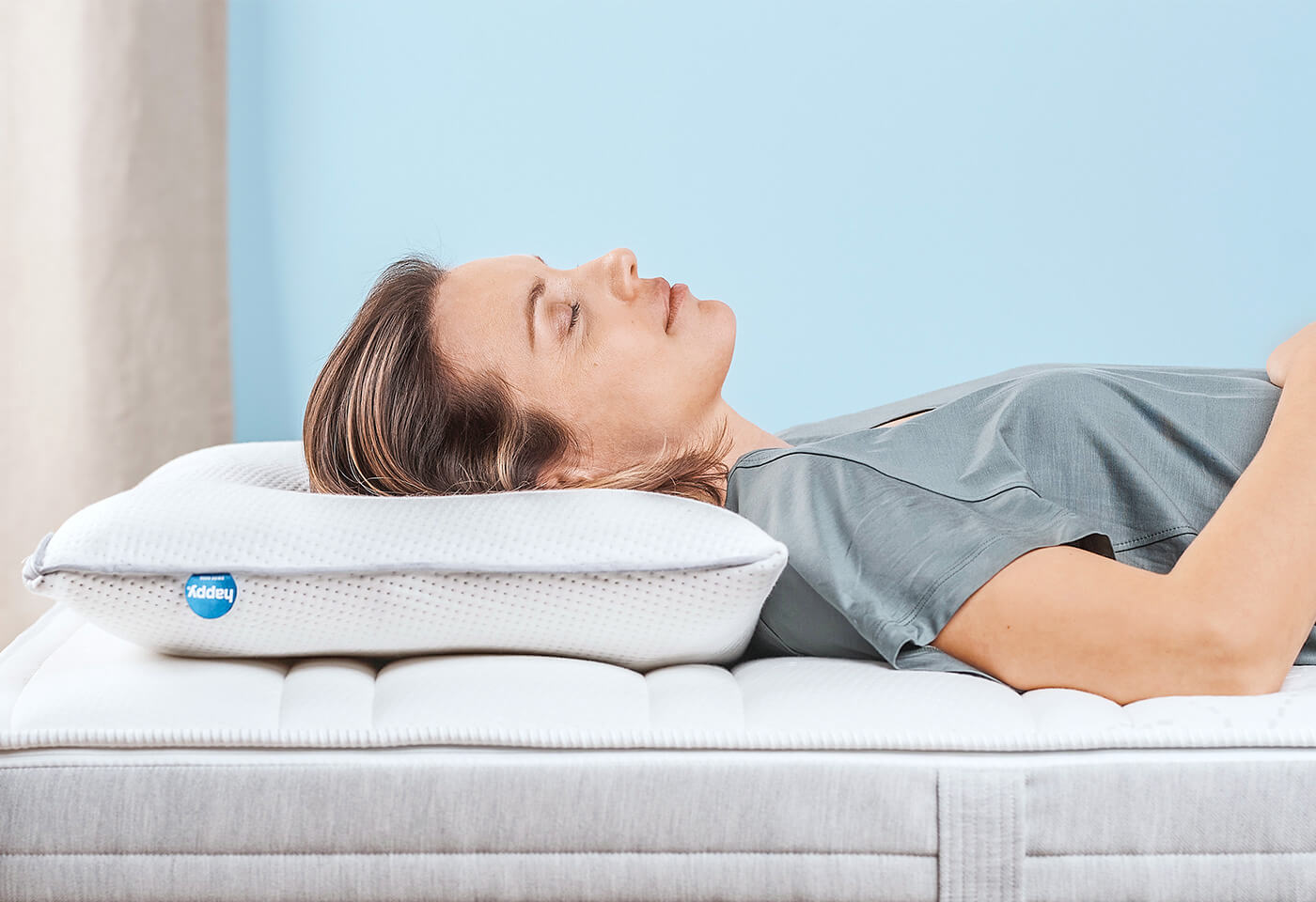 happy UP, l'oreiller pour ceux qui dorment sur le dos