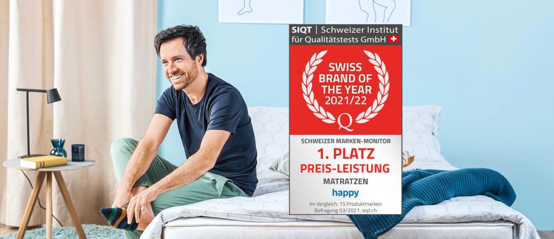 Matratzentest 2021: happy mit Bestnote in Preis/Leistung