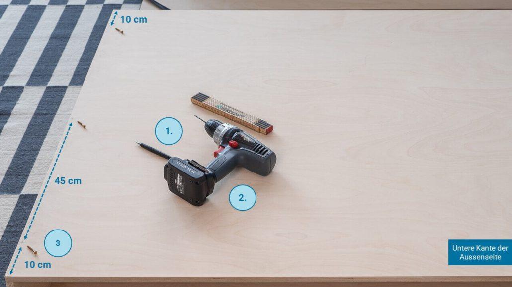 Schritt 4: Rückseite montieren - happy DIY Headboard