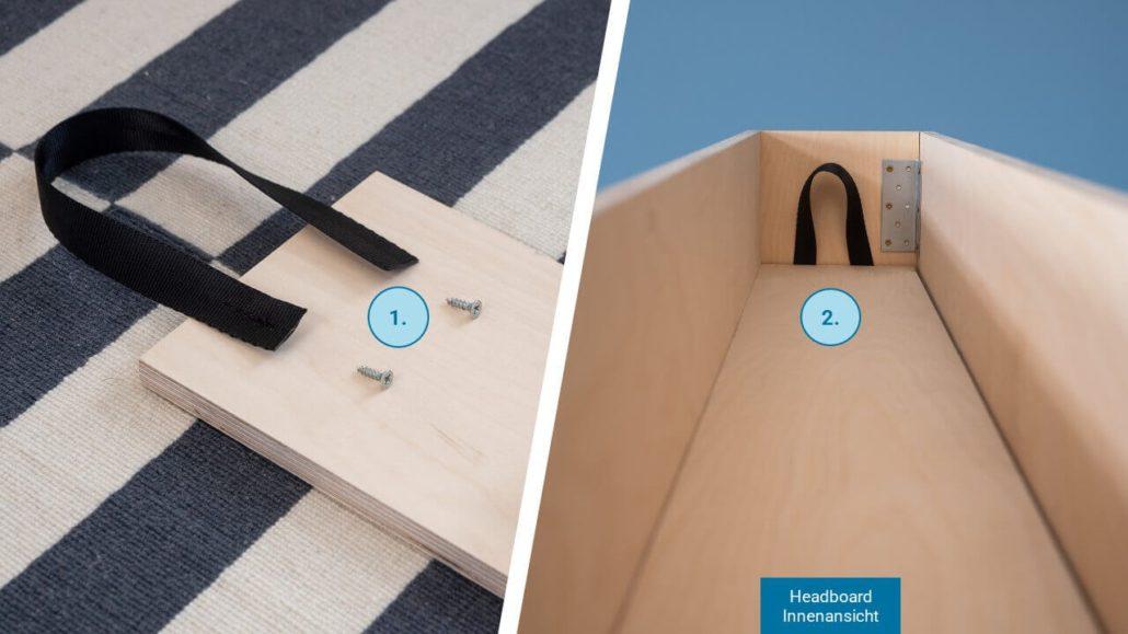 Schritt 5: Zwischenboden finalisieren - happy DIY Headboard